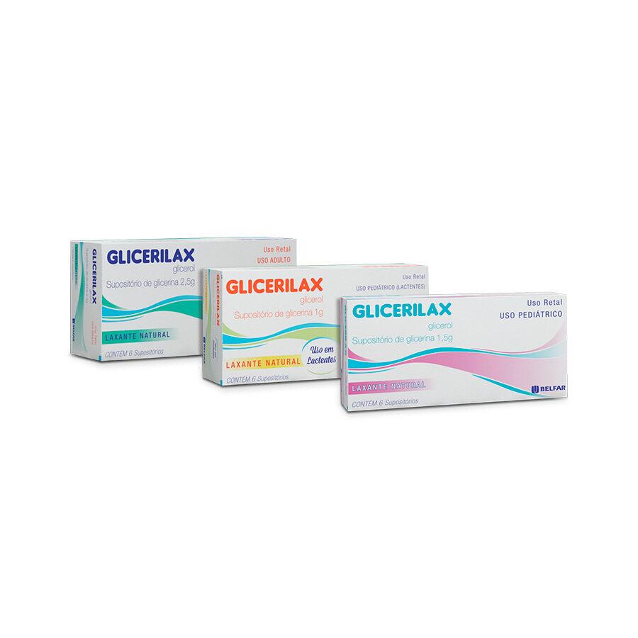 Glicerilax Adulto 6 supositórios<BR><H5>Glicerol</H5>