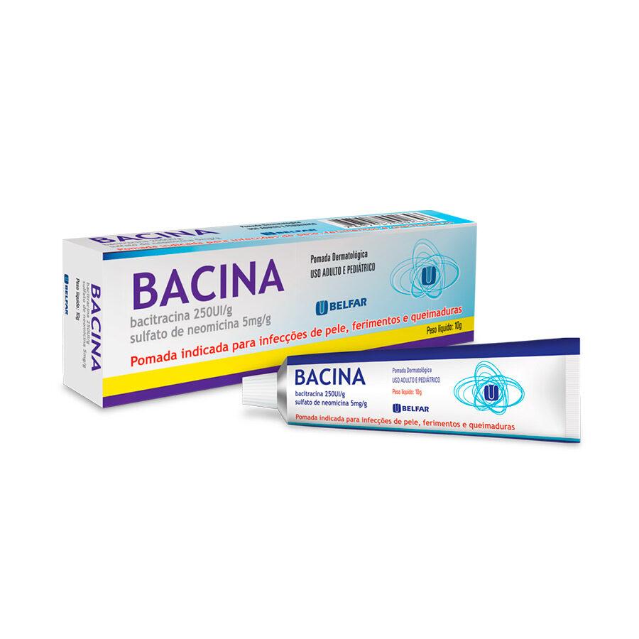 Bacina <BR><H5>Bacitracina 250UI/g + sulfato de neomicina 5mg/g</H5>