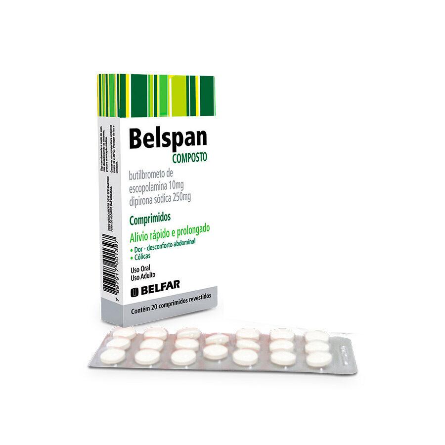 Belspan Comp  Revest <BR><H5>Dipirona sódica + butilbrometo de escopolamina</H5>