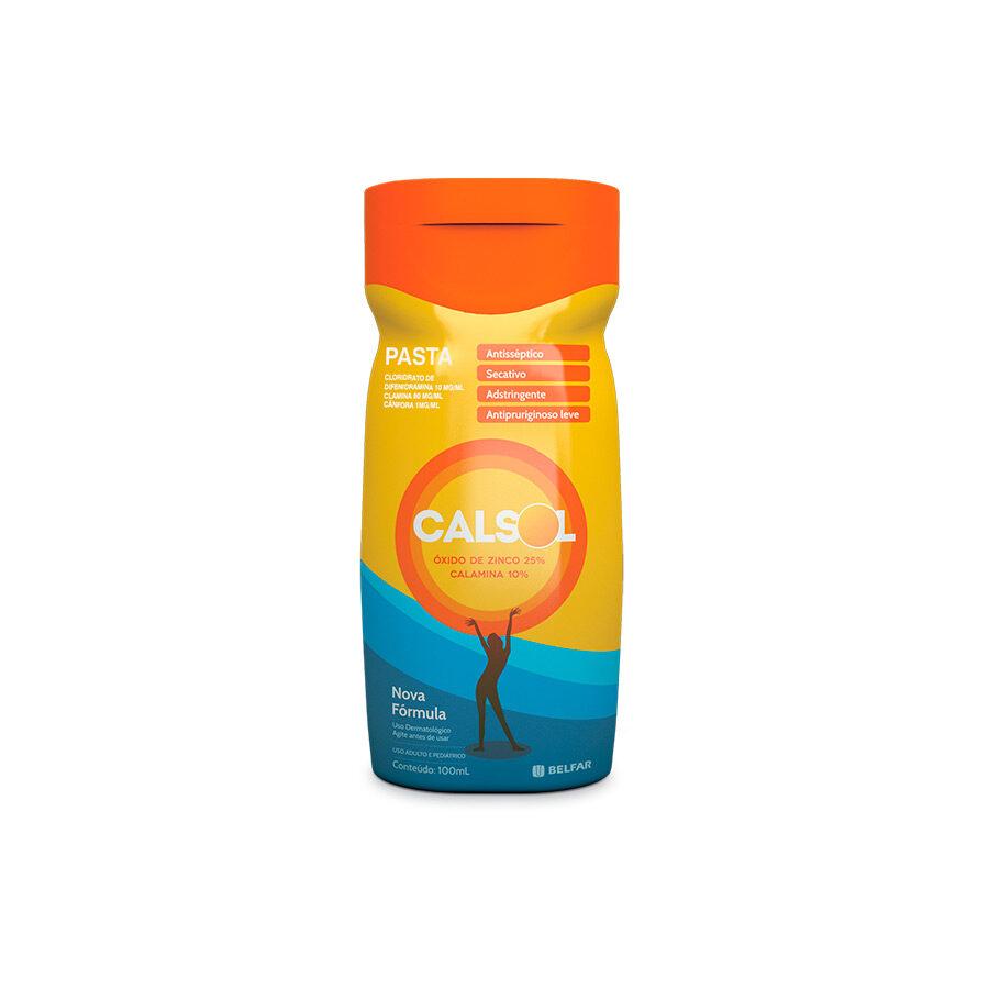 Calsol 100mL<BR><H5>Óxido de zinco 25% + calamina 10% </H5>