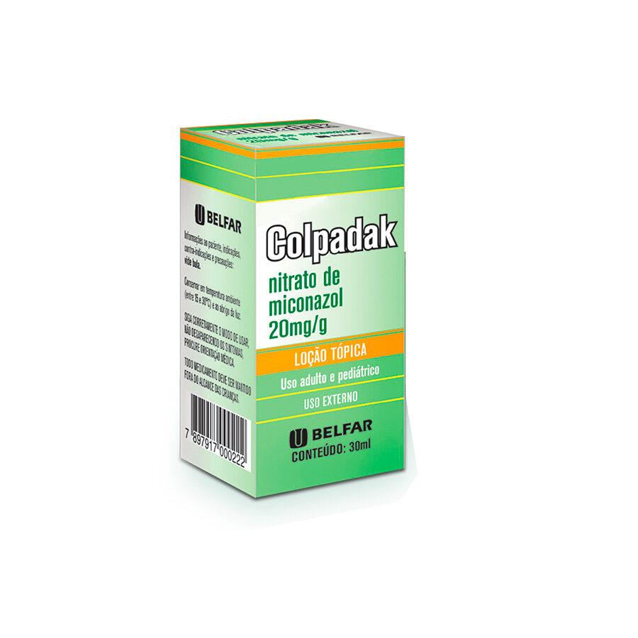 Colpadak Loção Tópica 30 ml<BR><H5>Nitrato de miconazol 20mg/g</H5>
