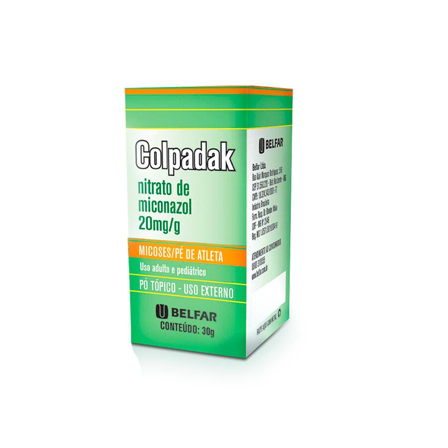 Colpadak Pó Tópico 30 g<BR><H5>Nitrato de miconazol 20mg/g</H5>