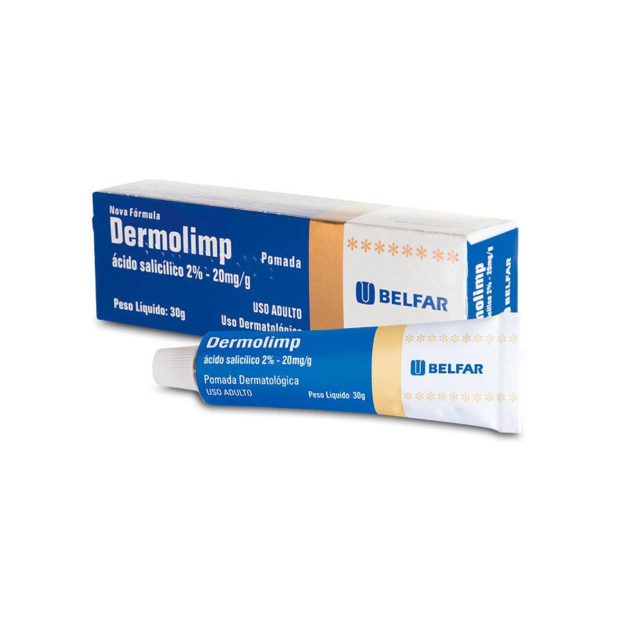 Dermolimp Pomada 30g <BR><H5>Ácido salicílico 2% – 20mg/g</H5>