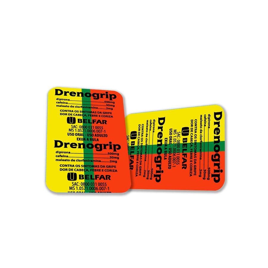 Drenogrip 20 Blisters com 6 comp.<BR><H5>Cafeína 30mg + maleato de clorfeniramina 2mg + dipirona 500mg</H5>